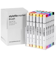 Маркеры для скетчинга Stylefile Brush 36 Main A (основные цвета)