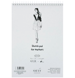 Скетчбук для маркеров Sketch pad for markers, формат А4, 50 листов, 100 г/м