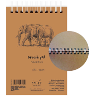 Крафтовый скетчбук на пружине Sketch pad Natural Brown, формат А4, 80 листов, 135 г/м
